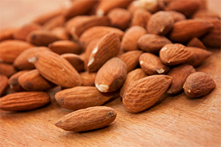 Almonds are rich in magnesium